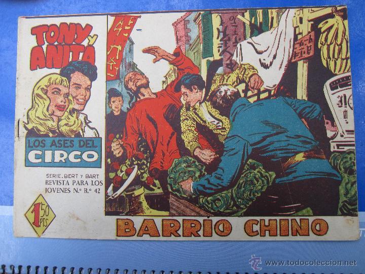 TONY Y ANITA , LOS ASES DEL CIRCO , N .31 ORIGINAL , MAGA 1960 (Tebeos y Comics - Maga - Tony y Anita)