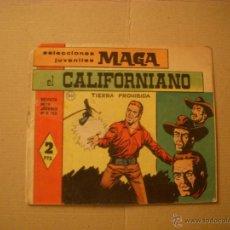 Tebeos: SELECCIONES JUVENILES MAGA Nº 20, EL CALIFORNIANO, EDITORIAL MAGA. Lote 46318064