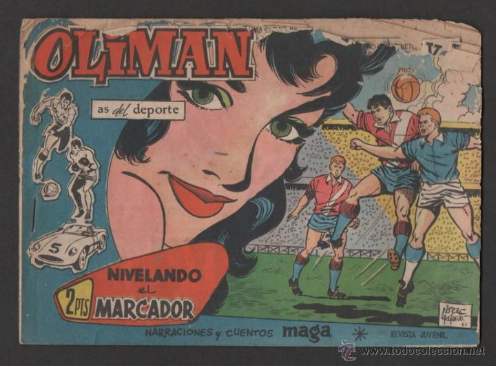 TEBEO OLIMAN AS DEL DEPORTE Nº 28 CONTRAPORTADA EQUIPO FUTBOL REAL CLUB DEPORTIVO ESPAÑOL (Tebeos y Comics - Maga - Oliman)