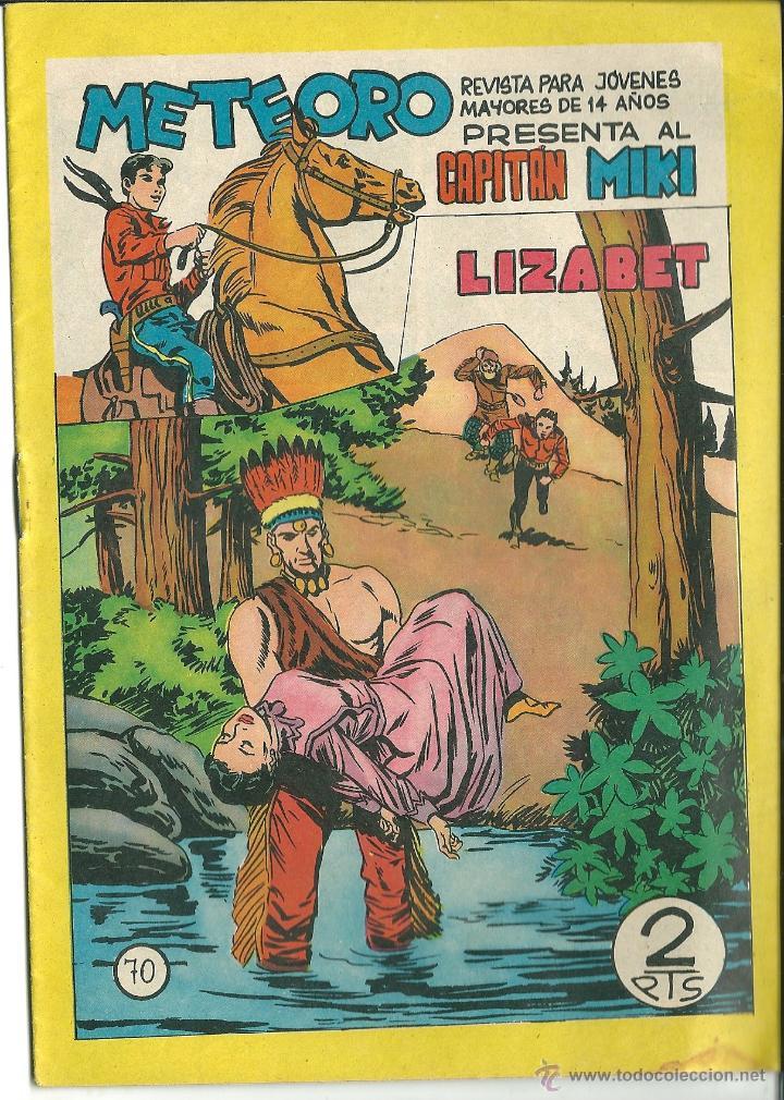 ORIGINAL- METEORO-CAPITAN MIKI-Nº70 -AÑO 1964-LIZABET (Tebeos y Comics - Maga - Otros)