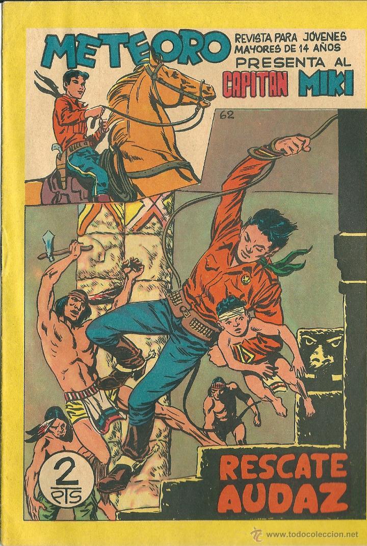 ORIGINAL- METEORO-CAPITAN MIKI-Nº62 -AÑO1964- RESCATE AUDAZ (Tebeos y Comics - Maga - Otros)