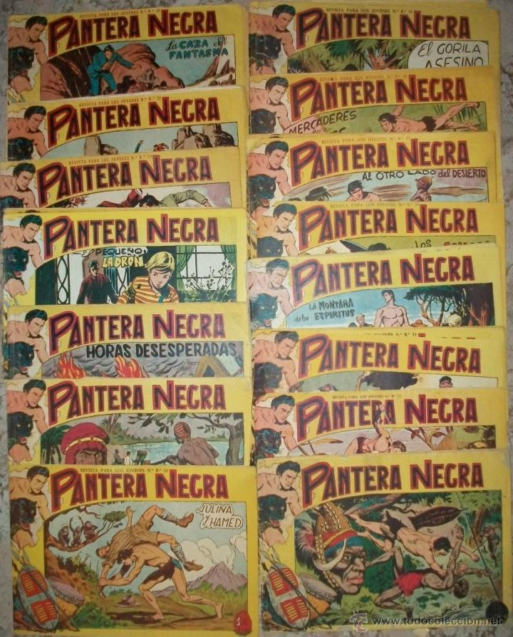 PANTERA NEGRA (MAGA-2) 46 EJ. (DEL 1 AL 46) (LOTE) (Tebeos y Comics - Maga - Pantera Negra)