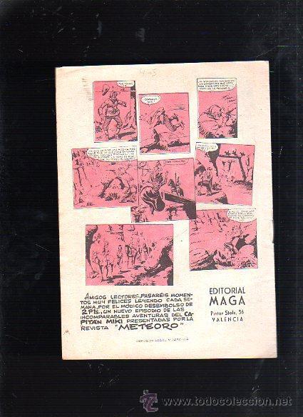 Tebeos: REVISTA PARA MAYORES METEORO. CAPITAN MIKI. Nº 6. LA DERROTA DEL BUITRE. EDITORIAL MAGA - Foto 2 - 47832835