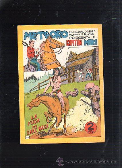 REVISTA PARA MAYORES METEORO. CAPITAN MIKI. Nº 8. LA FUGA DE SAKE NAGA (Tebeos y Comics - Maga - Otros)