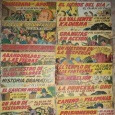 Tebeos: EL CLUB DE LOS CINCO (MAGA) COMPLETA 36 NUMEROS (ORIGINAL). Lote 47854337