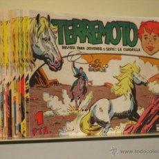 Tebeos: TERREMOTO COMPLETA 25 NUMEROS EDITORIAL MAGA REEDICION. Lote 215568987