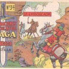 Tebeos: CORAZA DE CASTILLA Nº 34 ORIGINAL EDITORIAL MAGA 1964 - NUEVO SIN CIRCULAR. Lote 102700242