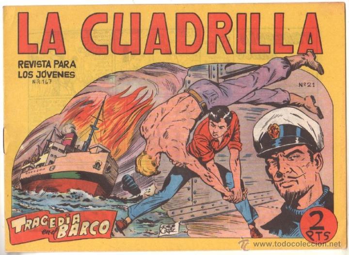 LA CUADRILLA ORIGINAL Nº 21 ( JUAN BRAVO Y SUS CHICOS ) MAGA 1964, MUY DIFICIL (Tebeos y Comics - Maga - Otros)