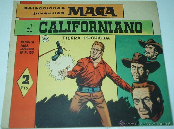 EL CALIFORNIANO Nº 20 - ORIGINAL MUY DIFICIL Y EN MUY BUEN ESTADO- LEER (Tebeos y Comics - Maga - Otros)
