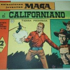 Tebeos: EL CALIFORNIANO Nº 20 - ORIGINAL MUY DIFICIL Y EN MUY BUEN ESTADO- LEER. Lote 48288531