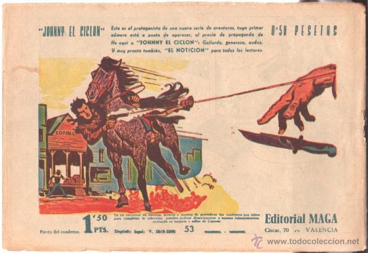 Tebeos: DON Z Nº 53 ORIGINAL - EDI. MAGA 1959 - DIBUJO SERCHIO - - Foto 2 - 222127636