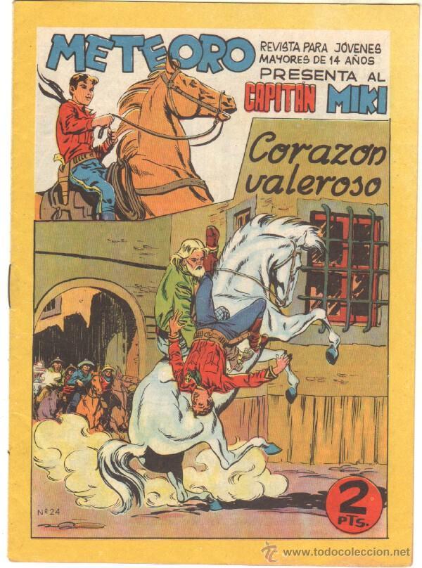 METEORO - EL CAPITAN MIKI ( EL PEQUEÑO HEROE ) ORIGINAL Nº 24 EDI. MAGA 1964 (Tebeos y Comics - Maga - Pequeño Héroe)