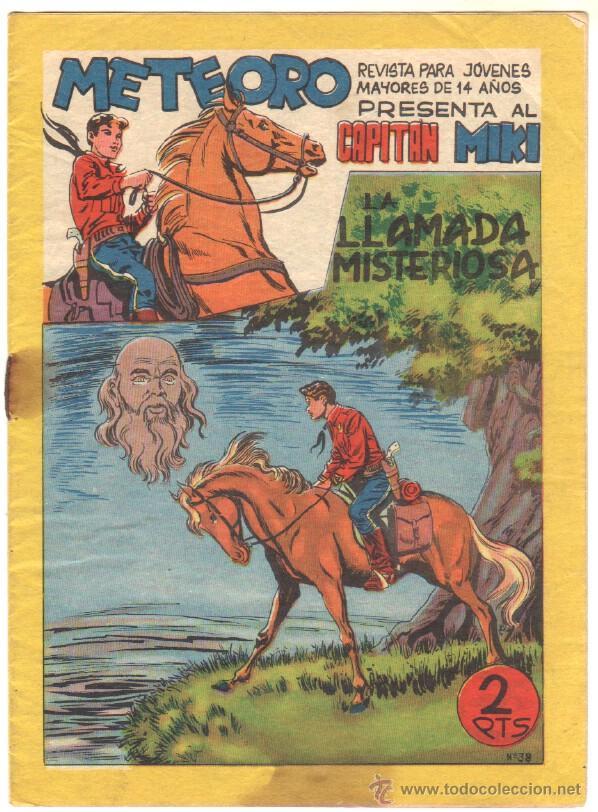 METEORO - EL CAPITAN MIKI ( EL PEQUEÑO HEROE ) ORIGINAL Nº 38 EDI. MAGA 1964 (Tebeos y Comics - Maga - Pequeño Héroe)