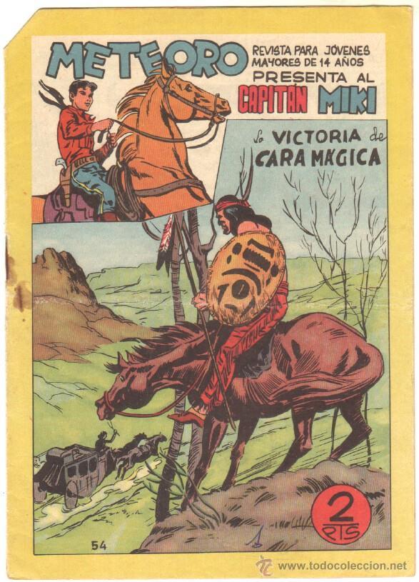 METEORO - EL CAPITAN MIKI ( EL PEQUEÑO HEROE ) ORIGINAL Nº 54 EDI. MAGA 1964 (Tebeos y Comics - Maga - Pequeño Héroe)