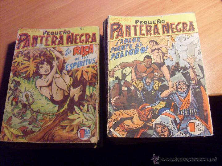 PEQUEÑO PANTERA NEGRA. LOTE DE 47 ENTRE EL 69 Y EL 123 (ORIGINALES MAGA) (COIB186) (Tebeos y Comics - Maga - Pantera Negra)