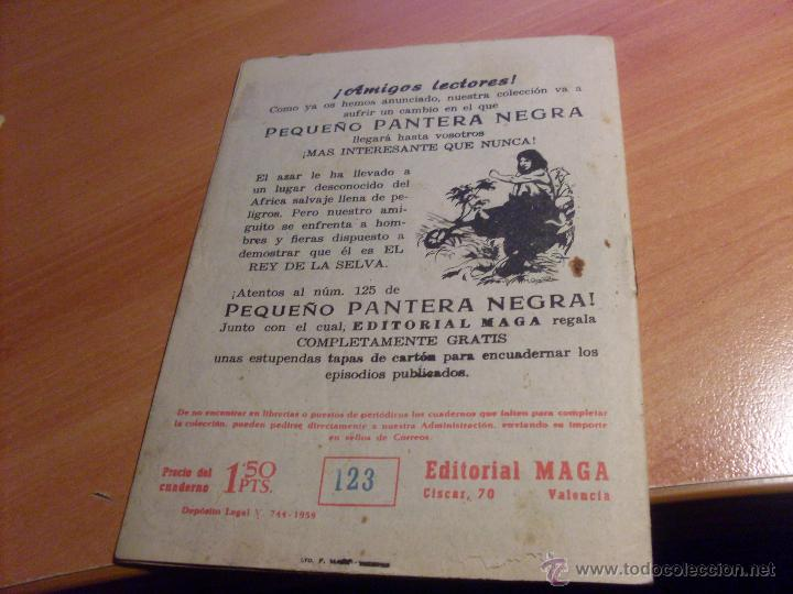 Tebeos: PEQUEÑO PANTERA NEGRA. LOTE de 47 ENTRE EL 69 Y EL 123 (ORIGINALES MAGA) (COIB186) - Foto 96 - 48650699