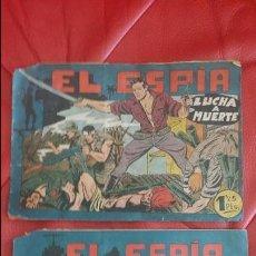 Tebeos: 2 TEBEO EL ESPIA N° 17 Y 20 ORIGINAL ED. MAGA. Lote 48673546