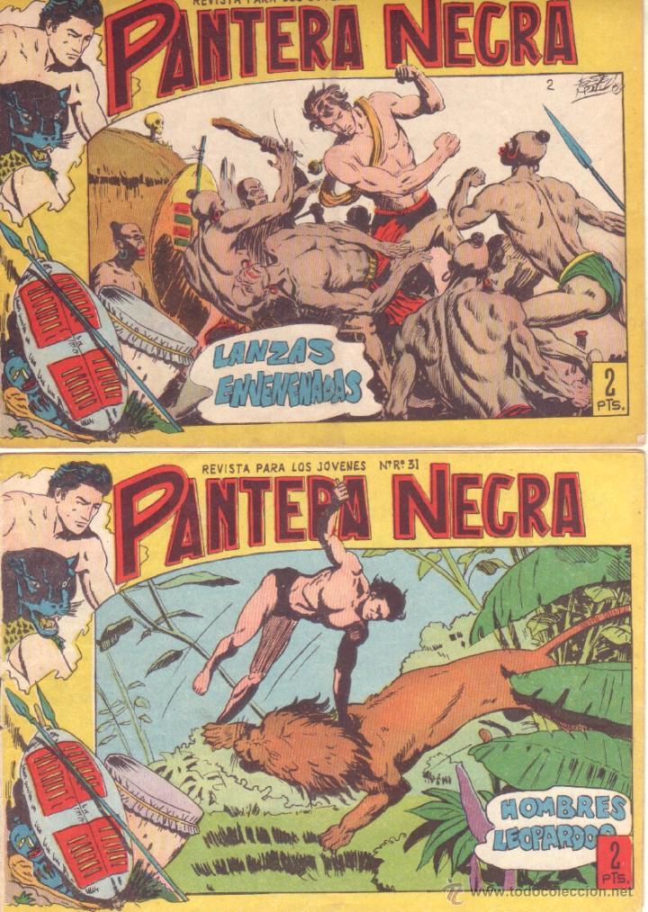 PANTERA NEGRA ORIGINAL EDITORIAL MAGA 1958 - 41 EJEMPLARES EN MUY BUEN ESTADO VER PORTADAS (Tebeos y Comics - Maga - Pantera Negra)