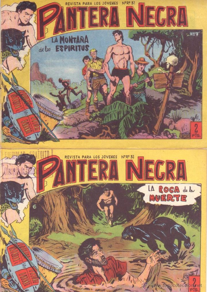 Tebeos: PANTERA NEGRA ORIGINAL EDITORIAL MAGA 1958 - 41 EJEMPLARES EN MUY BUEN ESTADO VER PORTADAS - Foto 3 - 48691437