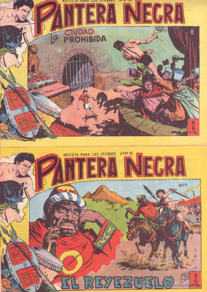 Tebeos: PANTERA NEGRA ORIGINAL EDITORIAL MAGA 1958 - 41 EJEMPLARES EN MUY BUEN ESTADO VER PORTADAS - Foto 4 - 48691437