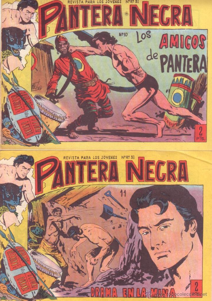 Tebeos: PANTERA NEGRA ORIGINAL EDITORIAL MAGA 1958 - 41 EJEMPLARES EN MUY BUEN ESTADO VER PORTADAS - Foto 5 - 48691437