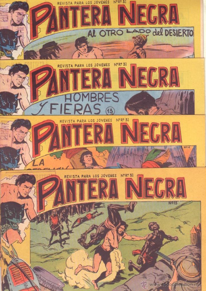 Tebeos: PANTERA NEGRA ORIGINAL EDITORIAL MAGA 1958 - 41 EJEMPLARES EN MUY BUEN ESTADO VER PORTADAS - Foto 6 - 48691437