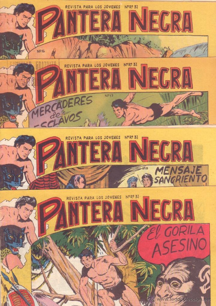 Tebeos: PANTERA NEGRA ORIGINAL EDITORIAL MAGA 1958 - 41 EJEMPLARES EN MUY BUEN ESTADO VER PORTADAS - Foto 7 - 48691437