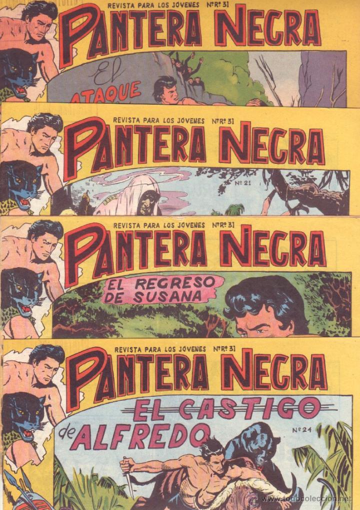 Tebeos: PANTERA NEGRA ORIGINAL EDITORIAL MAGA 1958 - 41 EJEMPLARES EN MUY BUEN ESTADO VER PORTADAS - Foto 8 - 48691437
