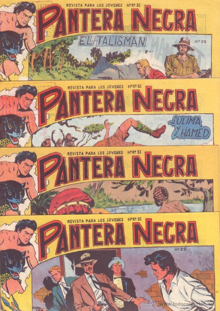 Tebeos: PANTERA NEGRA ORIGINAL EDITORIAL MAGA 1958 - 41 EJEMPLARES EN MUY BUEN ESTADO VER PORTADAS - Foto 9 - 48691437