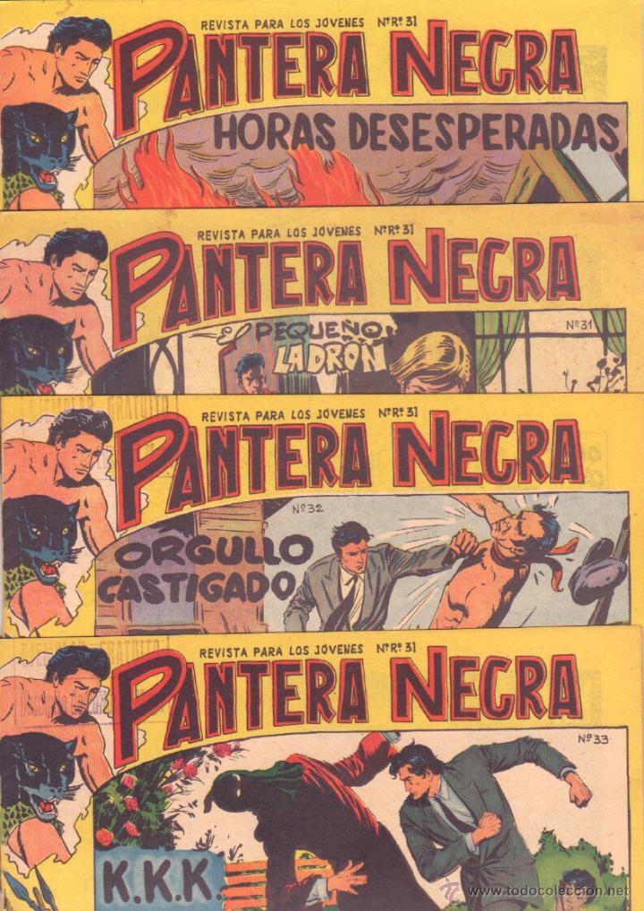 Tebeos: PANTERA NEGRA ORIGINAL EDITORIAL MAGA 1958 - 41 EJEMPLARES EN MUY BUEN ESTADO VER PORTADAS - Foto 10 - 48691437