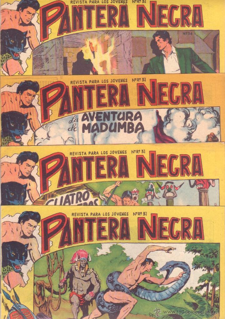 Tebeos: PANTERA NEGRA ORIGINAL EDITORIAL MAGA 1958 - 41 EJEMPLARES EN MUY BUEN ESTADO VER PORTADAS - Foto 11 - 48691437