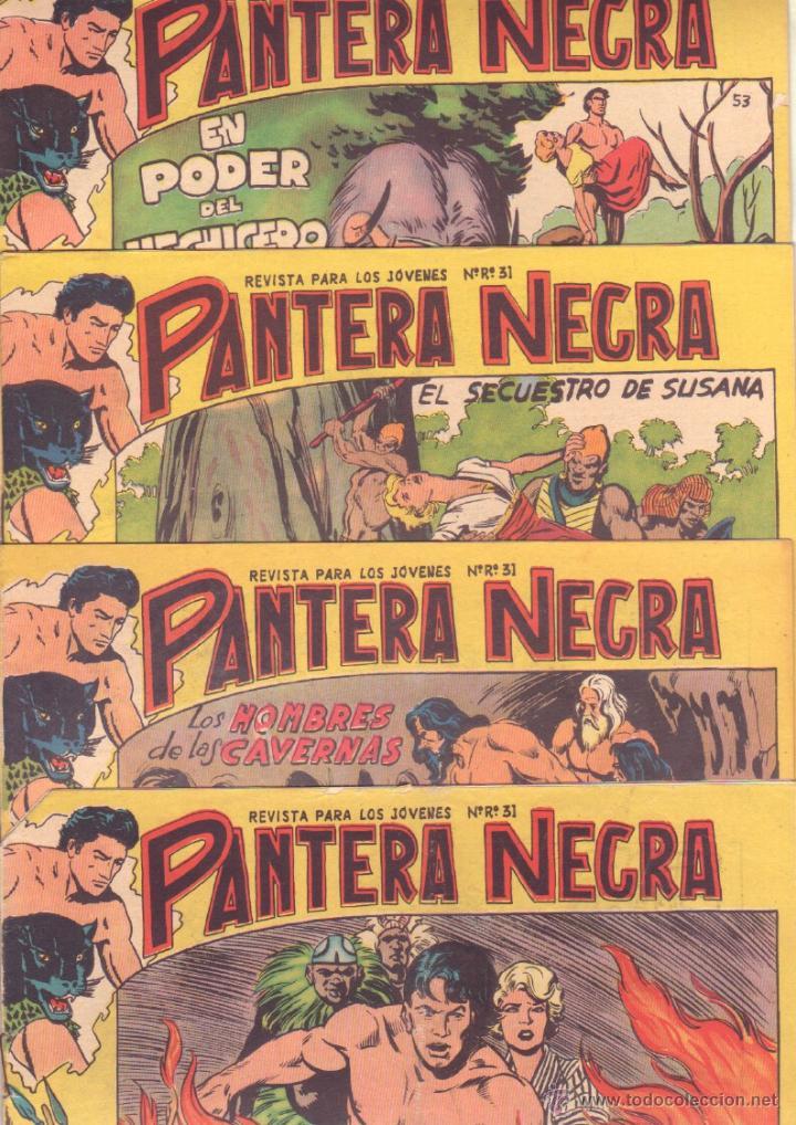 Tebeos: PANTERA NEGRA ORIGINAL EDITORIAL MAGA 1958 - 41 EJEMPLARES EN MUY BUEN ESTADO VER PORTADAS - Foto 13 - 48691437
