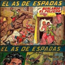 Tebeos: EL AS DE ESPADAS COLECCIÓN COMPLETA 1ª EDICIÓN M. GAGO BUEN ESTADO 30 NºS CAJA 191. Lote 48806826