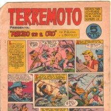 Tebeos: TERREMOTO ORIGINAL EDITORIAL MAGA Nº 11 - 1964. Lote 50159844