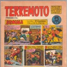 Tebeos: TERREMOTO ORIGINAL EDITORIAL MAGA Nº 22 - 1964. Lote 50159907