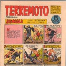 Tebeos: TERREMOTO ORIGINAL EDITORIAL MAGA Nº 27 - 1964. Lote 50159934