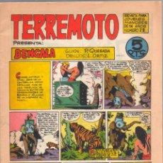 Tebeos: TERREMOTO ORIGINAL EDITORIAL MAGA Nº 28 - 1964 - ÚLTIMO DE BENGALA Y PRIMERO DE ROQUE BRIO. Lote 50159959
