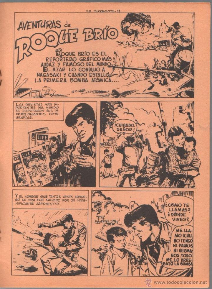 Tebeos: TERREMOTO ORIGINAL EDITORIAL MAGA Nº 28 - 1964 - ÚLTIMO DE BENGALA Y PRIMERO DE ROQUE BRIO - Foto 2 - 50159959