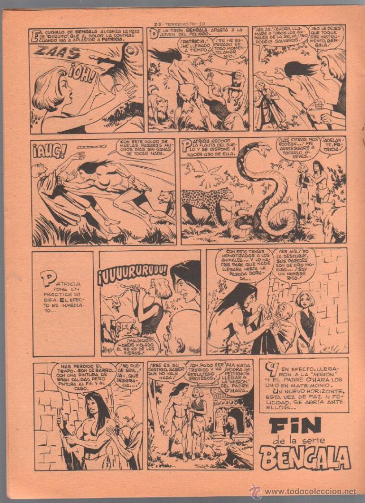 Tebeos: TERREMOTO ORIGINAL EDITORIAL MAGA Nº 28 - 1964 - ÚLTIMO DE BENGALA Y PRIMERO DE ROQUE BRIO - Foto 3 - 50159959