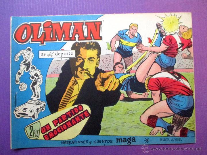 OLIMAN , AS DEL DEPORTE - MAGA - Nº 37 - CONTRAPORTADA: CLUB REAL MURCIA (Tebeos y Comics - Maga - Oliman)