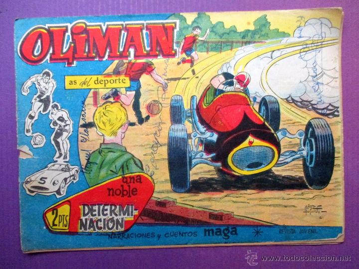 OLIMAN , AS DEL DEPORTE - MAGA - Nº 23 - CONTRAPORTADA: REAL ZARAGOZA (Tebeos y Comics - Maga - Oliman)