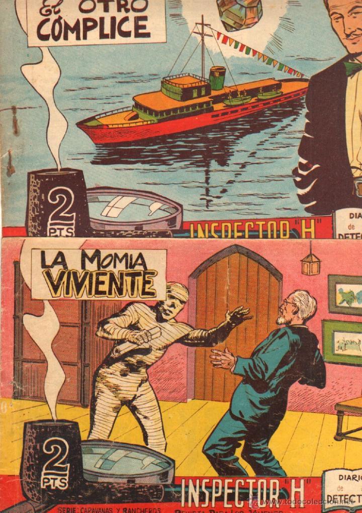Tebeos: EL INSPECTOR H ORIGINAL, COMPLETA 1 AL 34 EDITORIAL MAGA 1961 -PEREZ FAJARDO -A BUYLLA VER PORTADAS - Foto 2 - 50276363