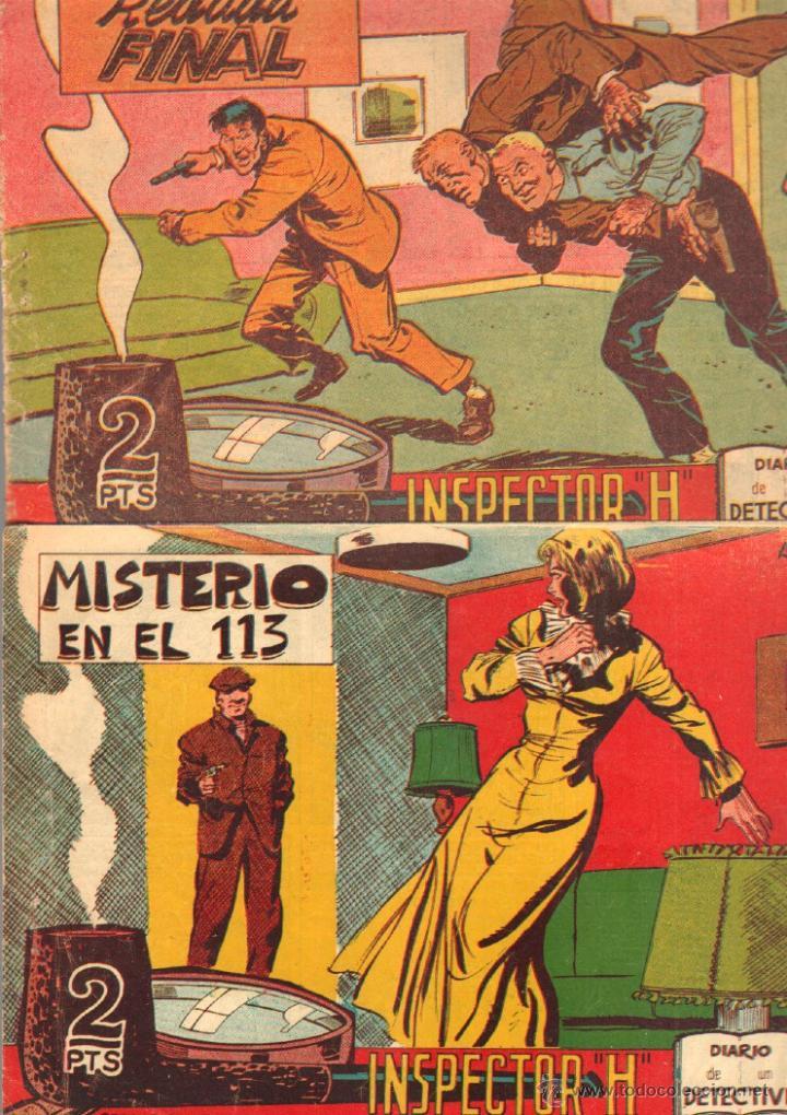 Tebeos: EL INSPECTOR H ORIGINAL, COMPLETA 1 AL 34 EDITORIAL MAGA 1961 -PEREZ FAJARDO -A BUYLLA VER PORTADAS - Foto 3 - 50276363
