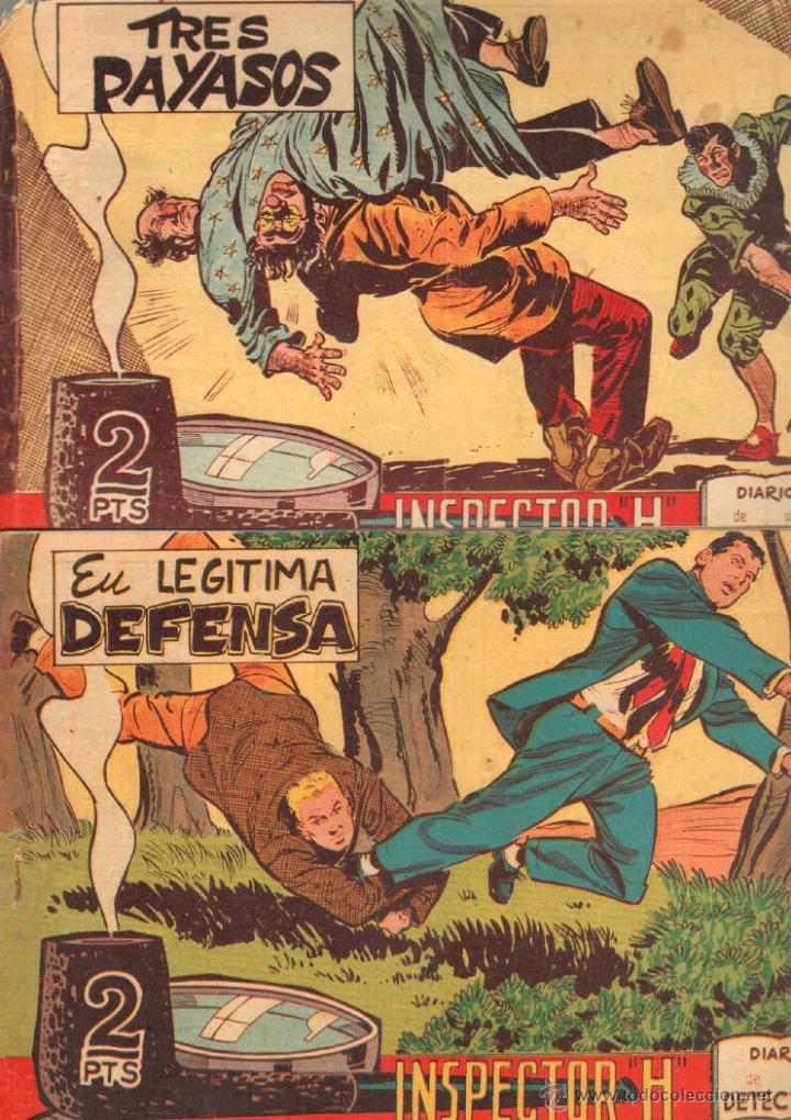 Tebeos: EL INSPECTOR H ORIGINAL, COMPLETA 1 AL 34 EDITORIAL MAGA 1961 -PEREZ FAJARDO -A BUYLLA VER PORTADAS - Foto 5 - 50276363