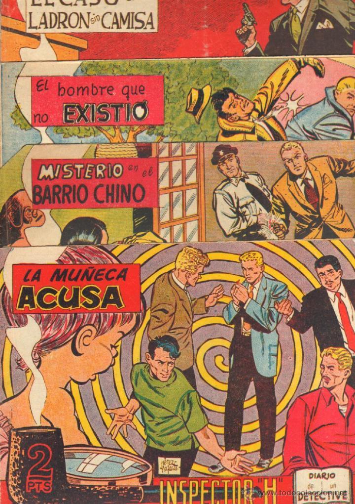Tebeos: EL INSPECTOR H ORIGINAL, COMPLETA 1 AL 34 EDITORIAL MAGA 1961 -PEREZ FAJARDO -A BUYLLA VER PORTADAS - Foto 12 - 50276363