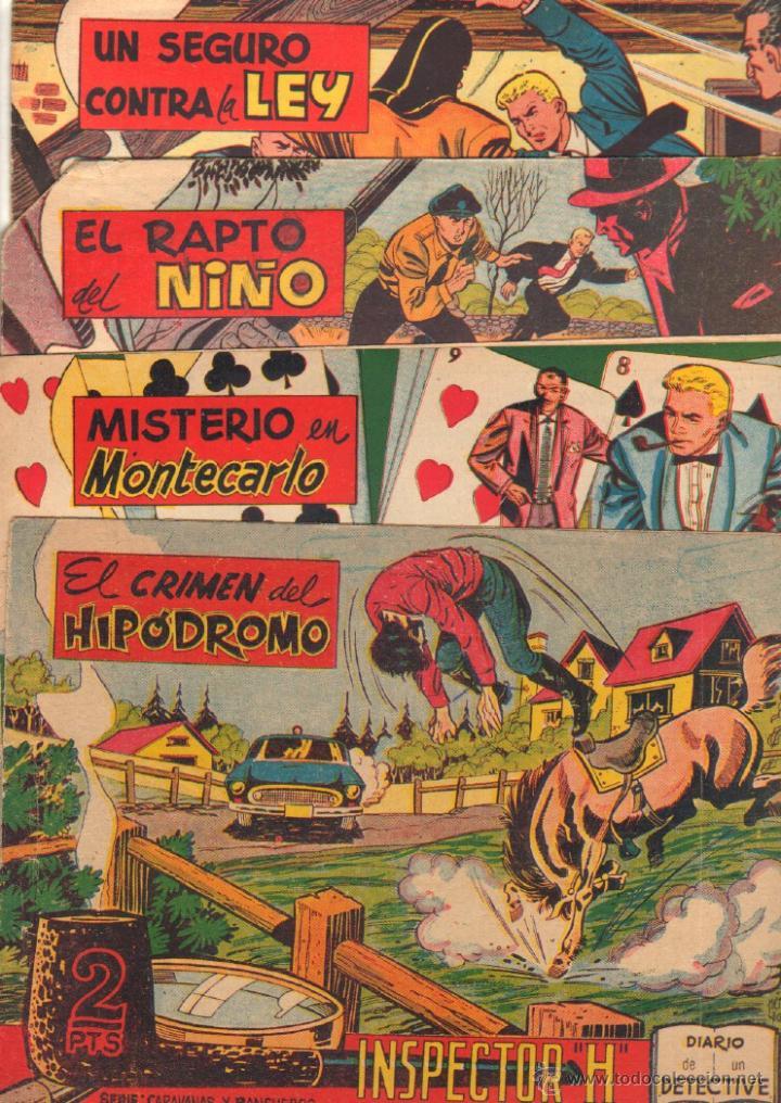 Tebeos: EL INSPECTOR H ORIGINAL, COMPLETA 1 AL 34 EDITORIAL MAGA 1961 -PEREZ FAJARDO -A BUYLLA VER PORTADAS - Foto 13 - 50276363