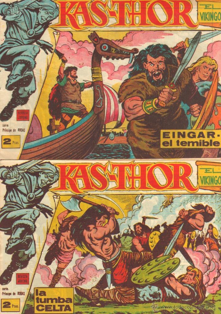 KAS-THOR KASTHOR EL VIKINGO ORIGINAL 1963 COMPLETA MUY BUEN ESTADO - D.LAWRENCE -1 A 62 VER PORTADAS (Tebeos y Comics - Maga - Otros)