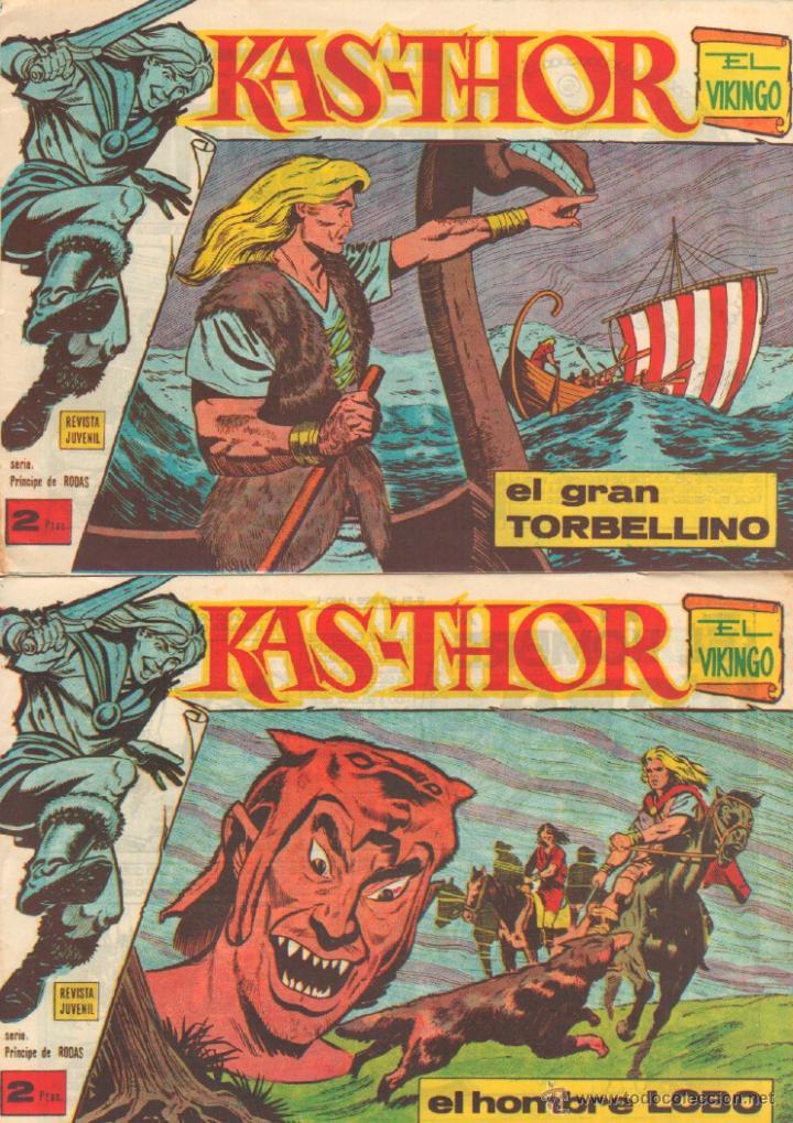 Tebeos: KAS-THOR KASTHOR EL VIKINGO ORIGINAL 1963 COMPLETA MUY BUEN ESTADO - D.LAWRENCE -1 A 62 VER PORTADAS - Foto 9 - 50295198