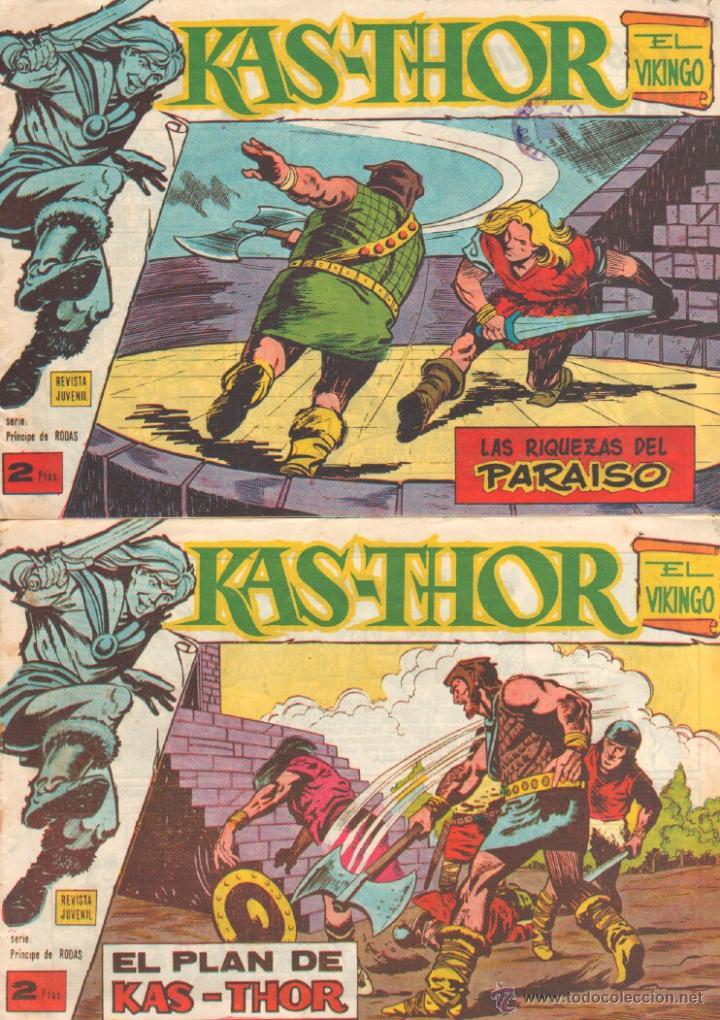 Tebeos: KAS-THOR KASTHOR EL VIKINGO ORIGINAL 1963 COMPLETA MUY BUEN ESTADO - D.LAWRENCE -1 A 62 VER PORTADAS - Foto 11 - 50295198