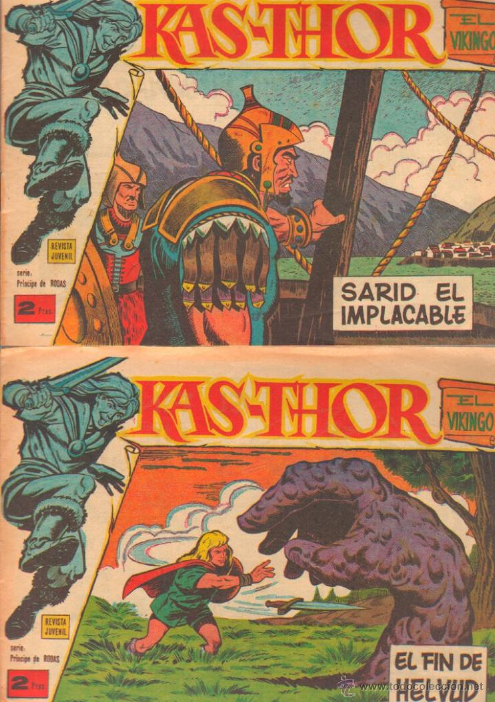Tebeos: KAS-THOR KASTHOR EL VIKINGO ORIGINAL 1963 COMPLETA MUY BUEN ESTADO - D.LAWRENCE -1 A 62 VER PORTADAS - Foto 14 - 50295198